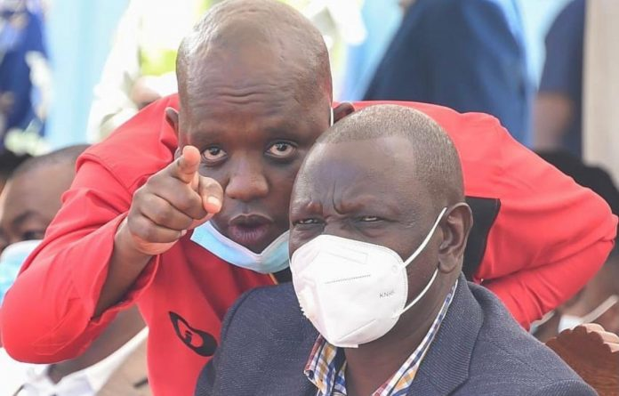 Dennis Itumbi pictured with Deputy President William Ruto at a past event. He commands a large following on social media, and influences conversations on politics and governance.