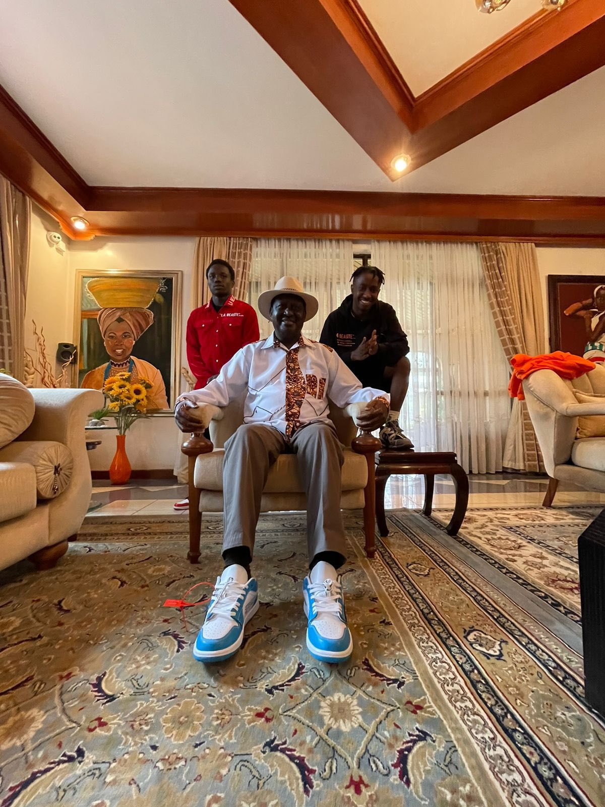 Baba and the young men who bought shoes