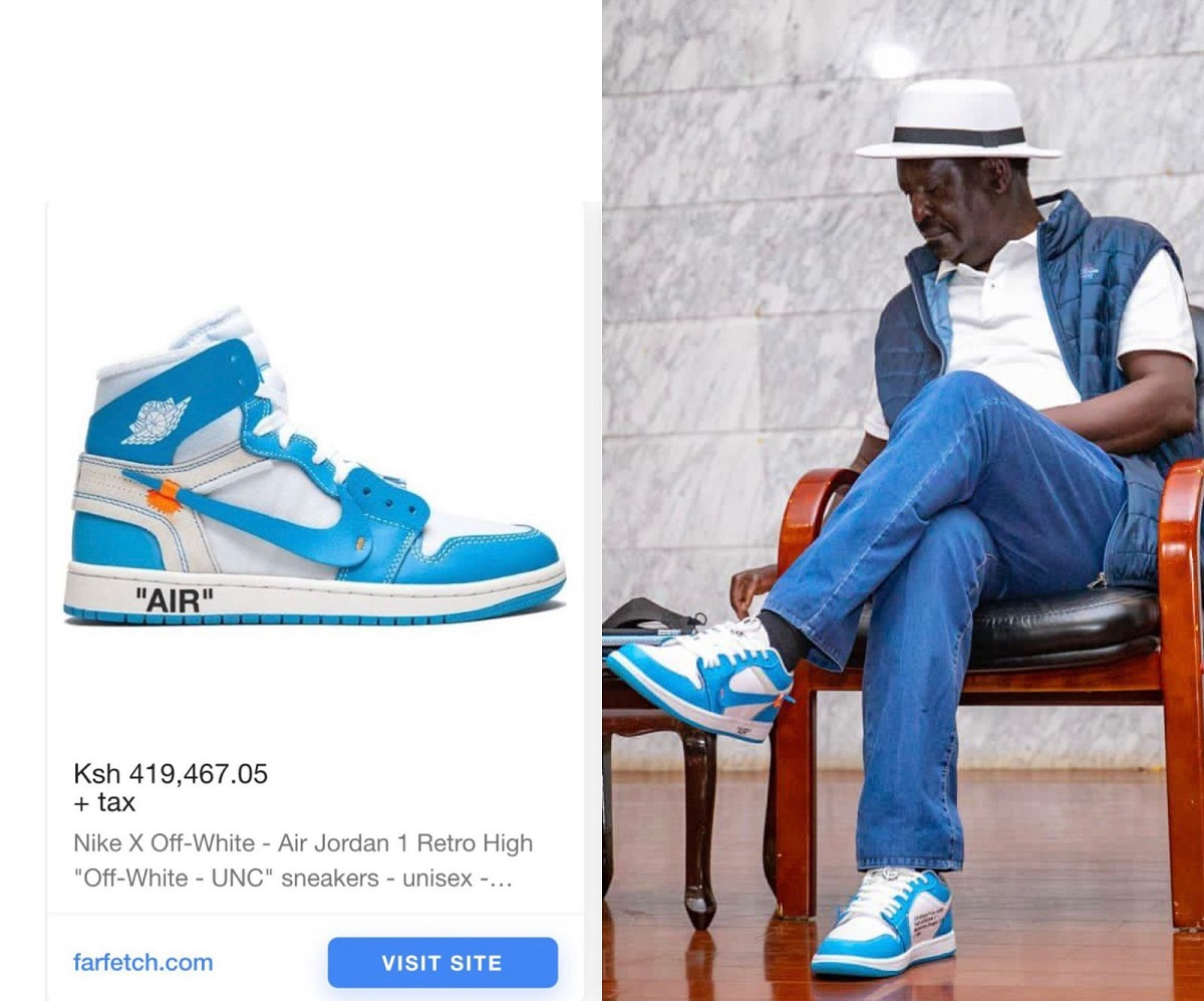 Price of raila shoes