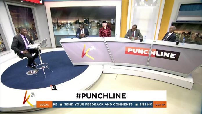Debarl Inea hosts a panel in a past edition of K24's Punchline. The anchor is set to join KTN. [Photo/ K24 TV]