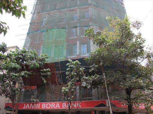 The former Jamii Bora bank building on Koinange Street, Nairobi.