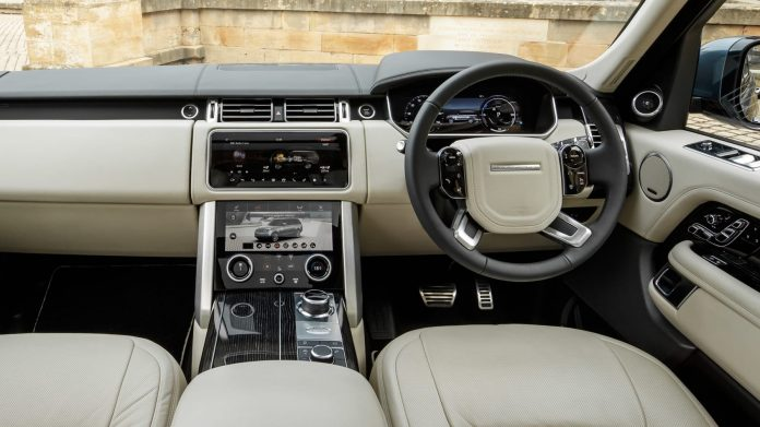 Inside a Range Rover Vogue. Media mogul SK Macharia celebrated his 79th Birthday on October 4, 2021.
